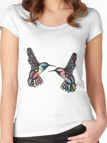 Tropical Hummingbirds Women's Fitted Scoop T-Shirt