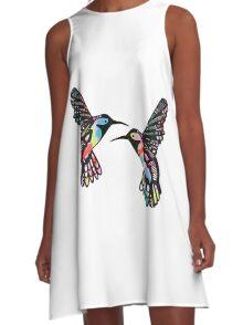 Tropical Hummingbirds A-Line Dress