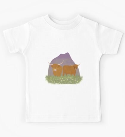 Highland Cows Kids Tee