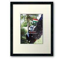 Ihr spezielles Panda Souvenir direkt aus Budapest, Ungarn! Framed Print
