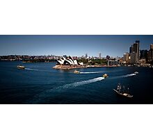 Sydney Opera House and Harbour Ferries Photographic Print
