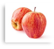 Two red apples Canvas Print