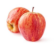 Two red apples Photographic Print