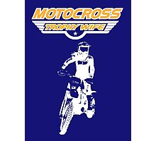 Motocross Trophy Wife - Girl Rider Photographic Print