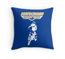 Motocross Trophy Wife - Girl Rider Throw Pillow