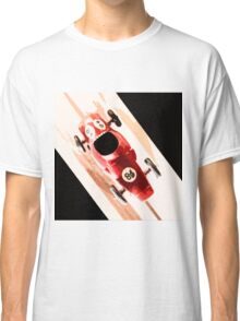 Toy Car on Wooden Track  Classic T-Shirt
