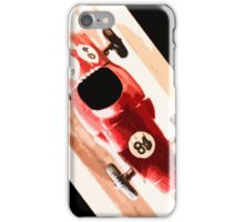 Toy Car on Wooden Track  iPhone Case/Skin