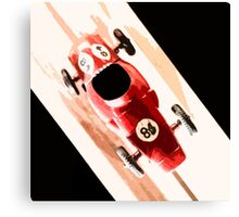 Toy Car on Wooden Track  Canvas Print