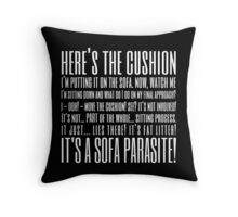 Coupling Quote Pillow 2 Dark Throw Pillow