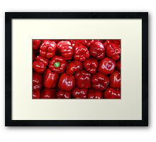 Sweet Red Peppers Framed Print