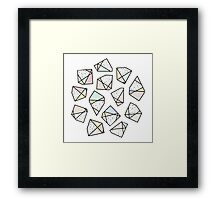 Polygonal stones and gemstones Framed Print