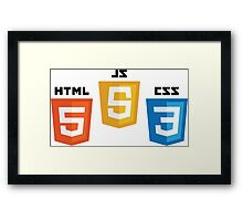 HTML5 CSS3 and JS Framed Print