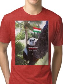 Special PANDA Souvenir directly from Budapest, Hungary Tri-blend T-Shirt