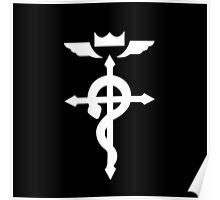 Fullmetal Alchemist Flamel - White Poster