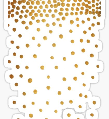 Gold Snowstorm on Wood Sticker