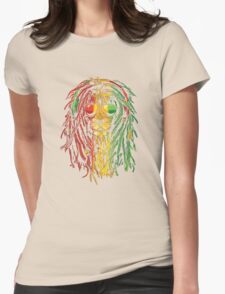 RASTA LION Womens Fitted T-Shirt