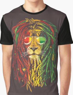 RASTA LION Graphic T-Shirt