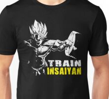 TRAIN INSAIYAN (GOKU HARDCORE SQUAT - LEG DAY) Unisex T-Shirt