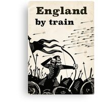 England By train vintage travel poster  Canvas Print