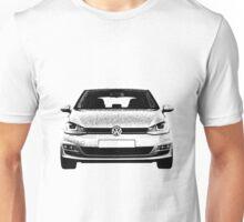 VW Golf MK7 Front Unisex T-Shirt