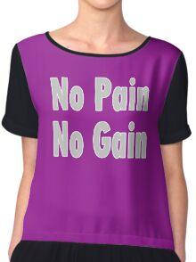 No PAIN No GAIN !!! T-Shirt Fitness Sticker Chiffon Top