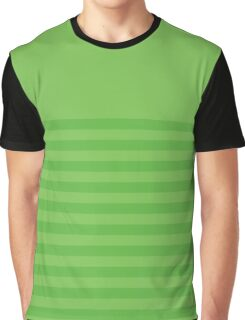 Retro Inspired Striped Green Flash Spring 2016 Graphic T-Shirt