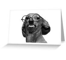 Nerd Dog Greeting Card