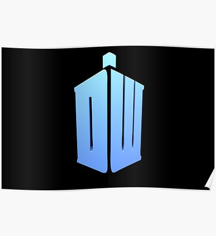 Doctor Who DW Logo  Poster