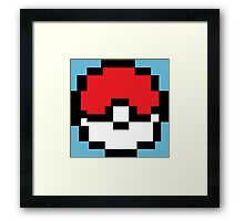 8 bit Pokeball Framed Print