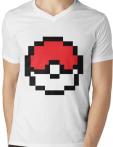 8 bit Pokeball Mens V-Neck T-Shirt