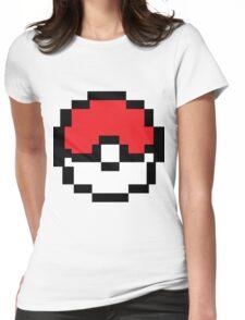 8 bit Pokeball Womens Fitted T-Shirt