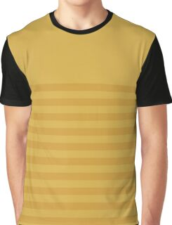 Retro Inspired Striped Spicy Mustard 2016 Graphic T-Shirt