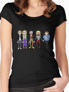 Psychoville characters inspired design Women's Fitted Scoop T-Shirt