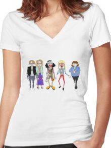 Psychoville characters inspired design Women's Fitted V-Neck T-Shirt