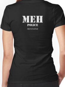 MEH Police Women's Fitted V-Neck T-Shirt