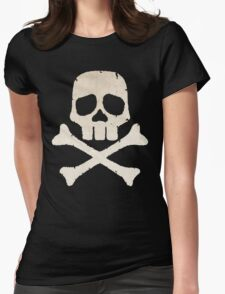 Captain Harlock Skull Womens Fitted T-Shirt
