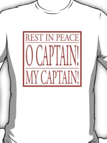 Rest In Peace Robin Williams - Dead Poet Society T-Shirt