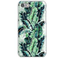 Watercolor Tropical Banana Palm Leaf Pattern iPhone Case/Skin
