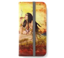 Indianerin -  Golden Sun iPhone Wallet/Case/Skin