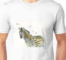 Zebra and Birds Unisex T-Shirt