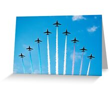 Overhead Reds Greeting Card