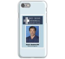 Derek Shepherd Badge - Greys's Anatomy iPhone Case/Skin