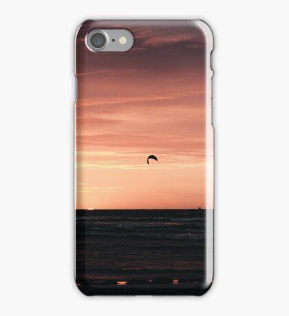 Kitesurfer at sunset iPhone Case/Skin