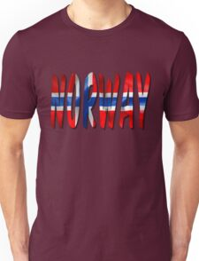 Norway Word With Flag Texture Unisex T-Shirt
