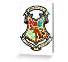 school of bending Greeting Card