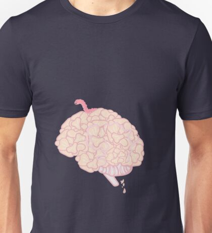 Brain with worm.  Unisex T-Shirt