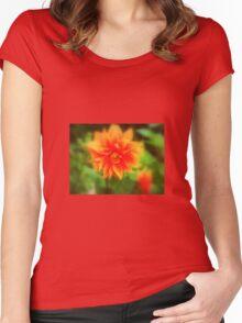 Hot Orange Women's Fitted Scoop T-Shirt