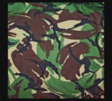 Camouflage, British, Army,  Disruptive Pattern Material, Kids Tee