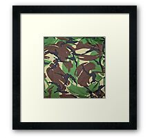 Camouflage, British, Army,  Disruptive Pattern Material, Framed Print