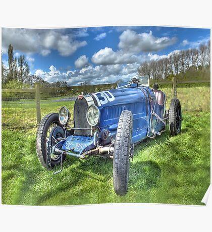 Bugatti Grand Prix Racing Car Poster